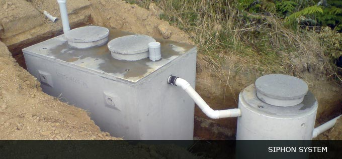 wastewater siphon system
